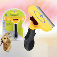 Deshedding  Dog Pet Cat Hair Shedding Trimmer Grooming Rake Comb Brush *