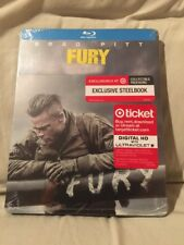 Fury Blu-Ray bluray SteelBook Target Exclusive) sold out oop rare (usa)