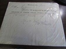 WALLACE HEWITT - DEALERS IN FRESH MEAT, FRESH FISH - MONTROSE  PA  BILLHEAD 1879