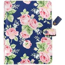 Websters Pages Color Crush Navy Floral A5 Faux Leather 6-Ring Planner Kit
