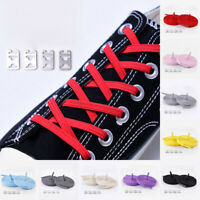 1Pair Unisex Elastic Flat Shoelaces Lazy Tie-free Shoelace Stretch Modern Solid