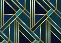 A1 | Green Gold Art Deco Poster Art Print 60 x 90cm 180gsm Elegant Gift #12546