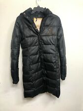 Baby Phat Vintage Black Puffer Hooded Jacket Small Parka
