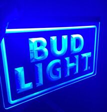 BUD LIGHT LOGO BAR Sign Led Neon Light for Game Room,Office,Bar,Man Cave, Beer