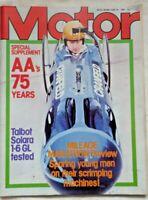 Motor Magazine 28 June 1980 Talbot Solara 1.6 GL Test R5 Turbo Classic Car Gift