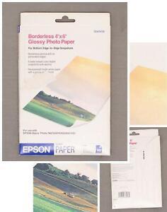 nWT Epson Borderless Photo Paper (4x6, 20 Sheets). S041458