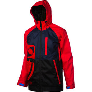 Nomis True Icon Snowboard Jacket Men's Medium Glow Red / Black / Darkest Blue