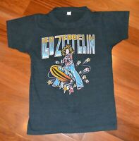 Vintage LED ZEPPELIN concert tour Reprint Black Men Short Sleeve T-Shirt AA1099
