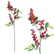 1 Bunch 57cm Christmas Red Berry Branch Artificial Xmas Flower Wreath Décor DIY