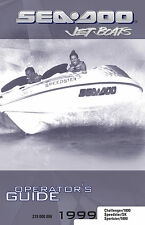 Sea-Doo Challenger Sportster 1800 & Speedster / SK, 1999 Owners Manual Paperback