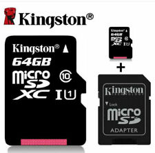 Kingston 64GB Micro SD XC Class 10 Card + SD Adapter For DASHCAM MOBILE CAMERA