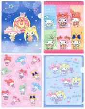 Seven Eleven Japan Sailor moon Sanrio My Melody 7 11 Lot 4 file folder set A5