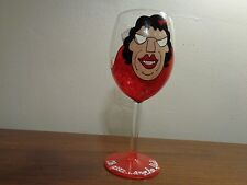 Oh geez.another flash! Hand Painted Wine Glass