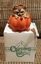 Charming Tails Silvestri Reginald'S Hideaway Raccoon Pumpkin 85/777