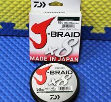 Daiwa J-Braid x8U 50-300DG Dark Green 50lb 330yd 14690790