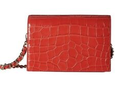 NWT Alice +Olivia Croc Embossed Clee Crossbody In Red