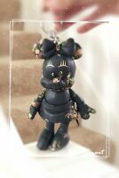 NWT Coach F30955 Disney Minnie Mouse Floral Doll Leather Charm Navy Limited $175