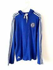 Chelsea Hoodied Top. Small Adults. Adidas. Blue S Long Sleeves Football Training