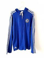 Chelsea Hoodied Top. pequeño Adultos. Adidas. Azul S Manga Larga Entrenamiento Fútbol
