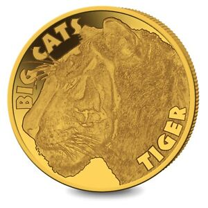 2020 Sierra Leone Big Cats Tiger 0.5 Gram .999 Gold Proof Coin - 199 Mintage