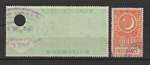 Pakistan Revenue Stamps Court Fee Insurance Fee Stamps
