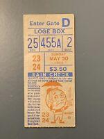 1965 New York Mets Vs Pittsburgh Pirates Ticket Stub Mazeroski & Stargell Hr's