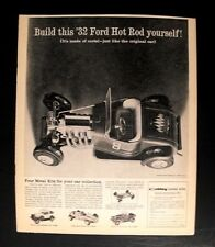 1960 Hubley Metal Model Kit 1932 Ford Hot Rod Toy Memorabilia Trade Promo Ad