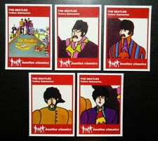 Set of 5 BEATLES CLASSICS trade cards - YELLOW SUBMARINE - Red series