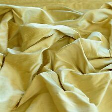 "Iridescent Lemon Chiffon Dupioni 100% Silk Fabric 44""/54"" Wide By Yard (S-215)"