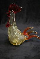 Murano Italian Art Glass - GIANT GOLD ROOSTER -  Gold + Red - GIANT SIZE - *WOW*