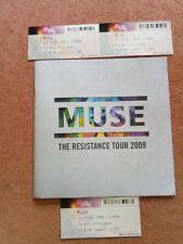 Muse The Resistance Tour 2009 souvenier brochure and tickets.