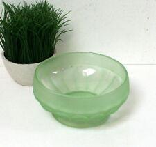 Grande coupelle / saladier en verre dépoli ancien