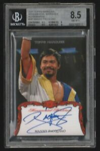 2011 TOPPS MARQUEE MANNY PACQUIAO  ROOKIE #MM-MP BGS 8.5 w/ 8 On-Card Autograph