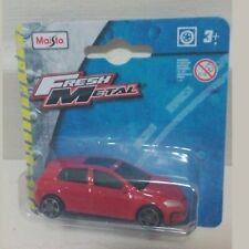 Maisto Fresh Metal die cast 1/64 VW Volkswagen Golf GTi 3+ red rare car boys
