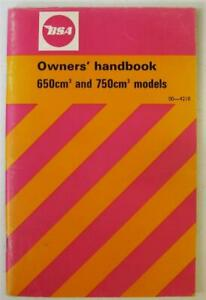 BSA 650cm 750cm Motorcycle Owners Handbook Oct 1971 #00-4218 Thunderbolt ++
