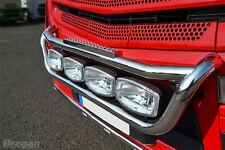 To Fit Mercedes Actros MP4 Polished Grill Light Bar Grill Bar C + 2 Side LEDS