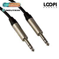 Stereo Guitar Lead 2m ~ 25m - Van Damme Cable w/ Neutrik Jacks (Straight)