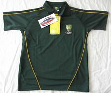 Australia Cricket Polo Shirt Youth Sz 16 -also Fits Mens S in Tight Fit