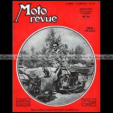 MOTO REVUE N°1131 AGF 175 COMET GUZZI FB MONDIAL 125 CLUA DOLLAR SIDE-CAR 1953