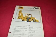 Massey Ferguson 20C Backhoe Loaders Tractor Dealer's Brochure Lcoh