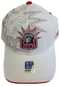 NHL New York Rangers Reebok Cap Hat Flex Authentic Center Ice Collection OSFA
