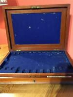 Antique Mappin Brothers Wooden Cutlery Box + Removable Tray  37 cm x 27 cm x 6cm