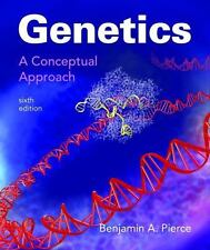 GENETICS A CONCEPTUAL APPROACH - PIERCE - Sixth 2017 US HARDCOVER EDITION NEW