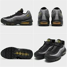Nike Air Max 95 Trainers - Black/Chrome Yellow-Dark Grey CQ4024 001 - UK 6 EU 40