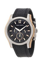 Vince Camuto Mens The Cruiser Grey Dial Black rubber Strap Watch VC/1008RG