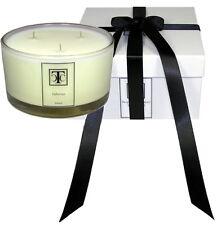 TCC Jasmine White Tea Scented Candle 80 hour Glass Bowl 3 wick