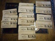 LOT DE 13 N°S JOURNAL L'AIGLE 1856 A 1860 XIXè 13 Old french newspaper