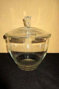 Glas-Bowle Topf mit Deckel, Bowlegefäß, Bowleschüssel