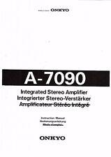 Onkyo  Bedienungsanleitung user manual owners manual  für A- 7090