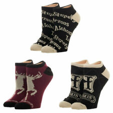 Brand New Licensed Harry Potter ADVANCED WIZARDRY 3 Pack No Show Socks For Women